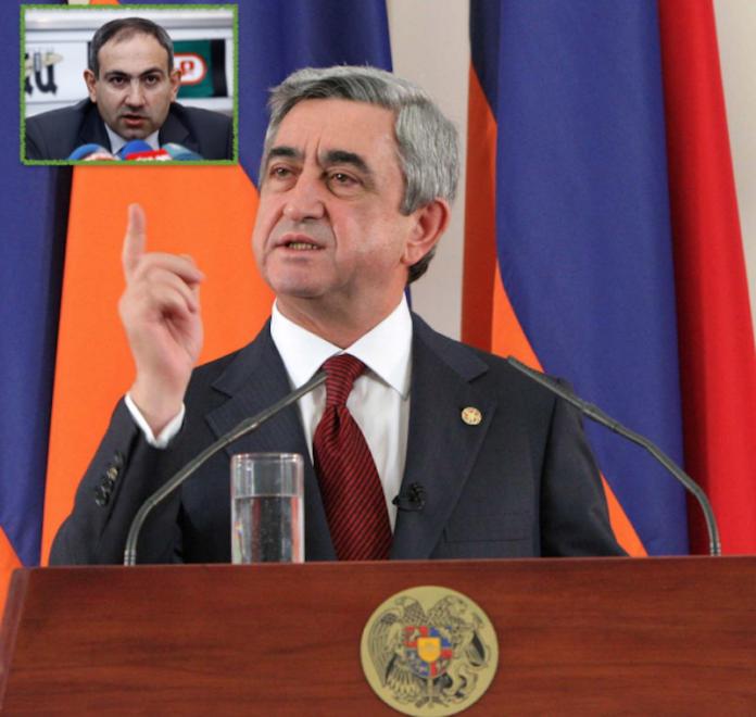Festa no-stop per le dimissioni di Sargsyan