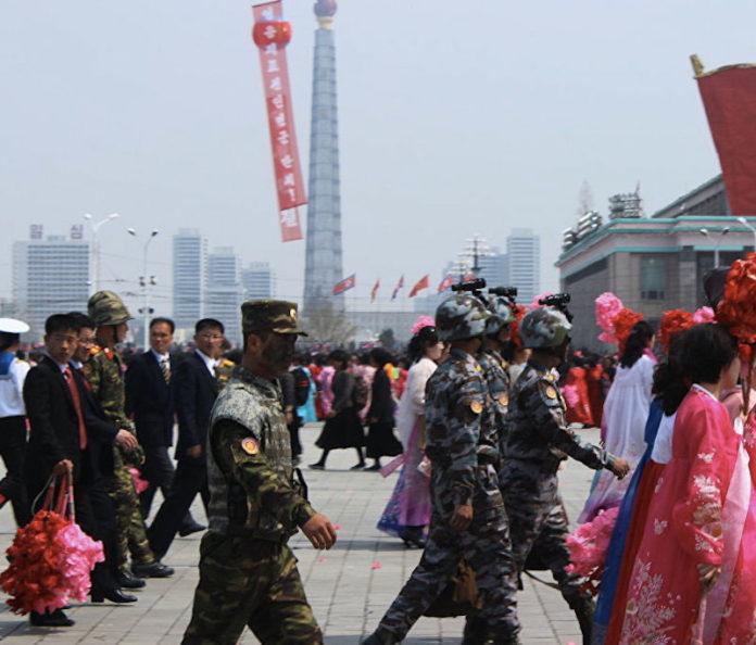 Pence al confine tra le due Coree